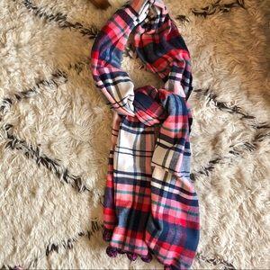 Louisa perini plaid scarf